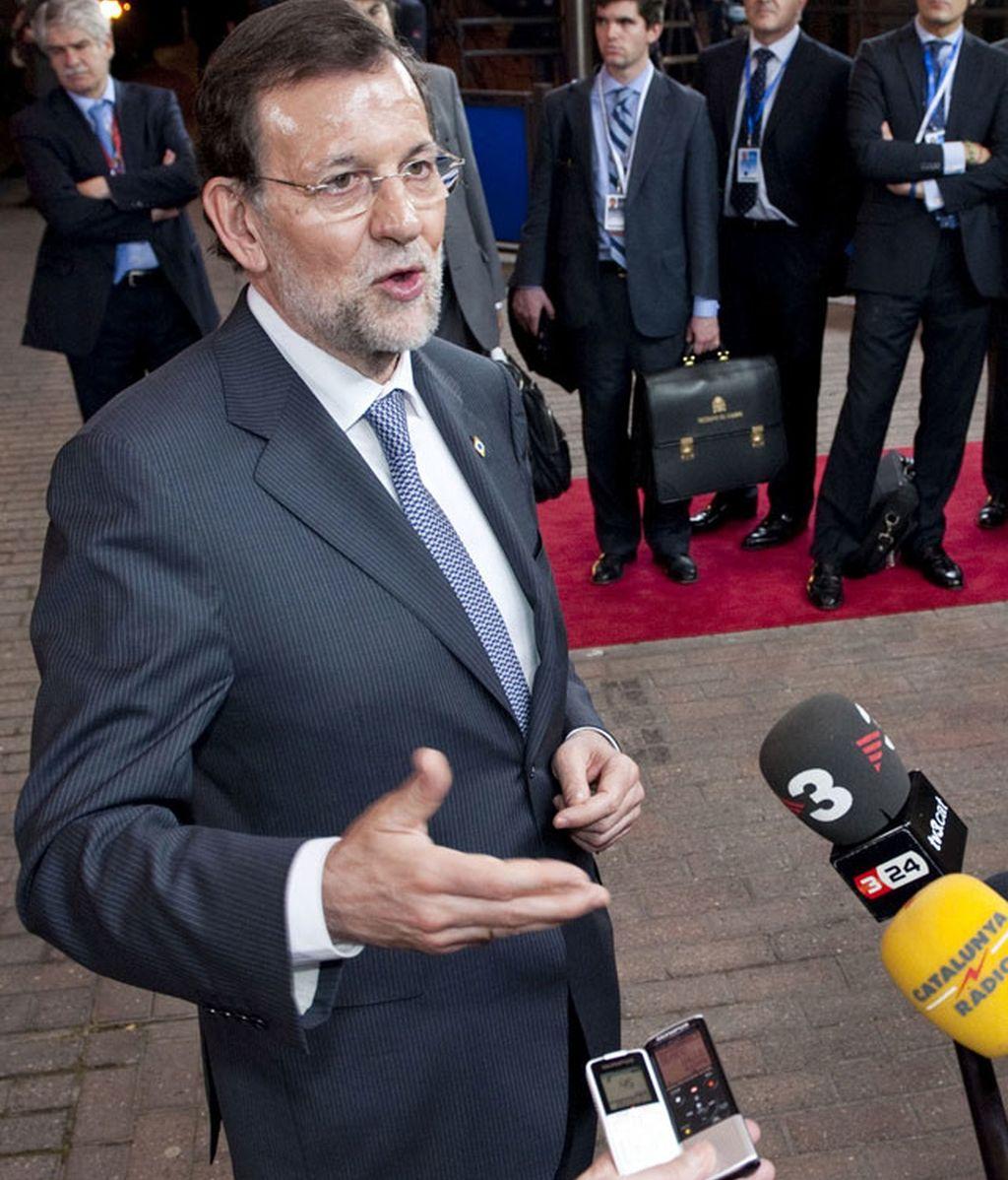 Mariano Rajoy tras las cumbre europea