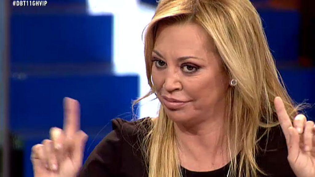 """Belén Esteban: """"Si alguien cree que hay tongo, que vaya al notario y pida los votos"""""""