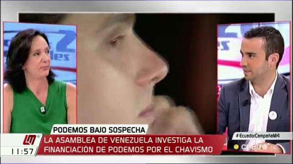 """Pablo Yáñez (C's): """"Me gustaría saber si Iglesias irá a Venezuela a explicar en qué se ha gastado los 7 millones de euros"""""""