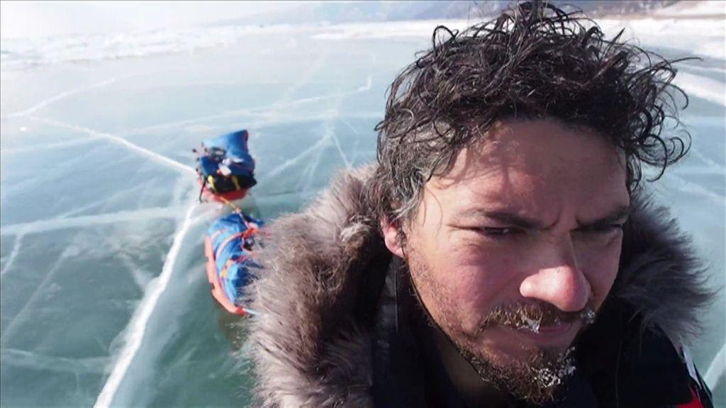"""Paco Acedo cruzó en solitario el lago Baikal: """"Todo lo que podía salir mal, salió"""""""