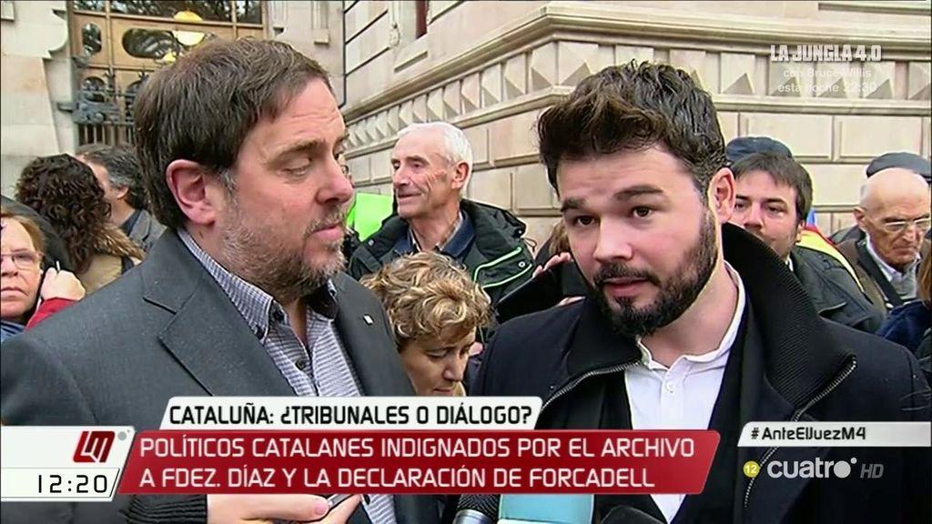 """Rufián, sobre Forcadell: """"La persiguen y amenazan por ser democrática"""""""