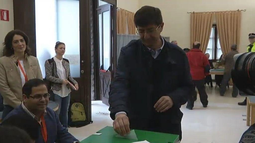 Juan Marín, de Ciudadanos, el más madrugador de los candidatos