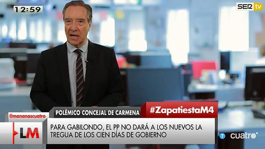 "Iñaki Gabilondo: ""Lo inteligente es que Zapata dimita personalmente"""