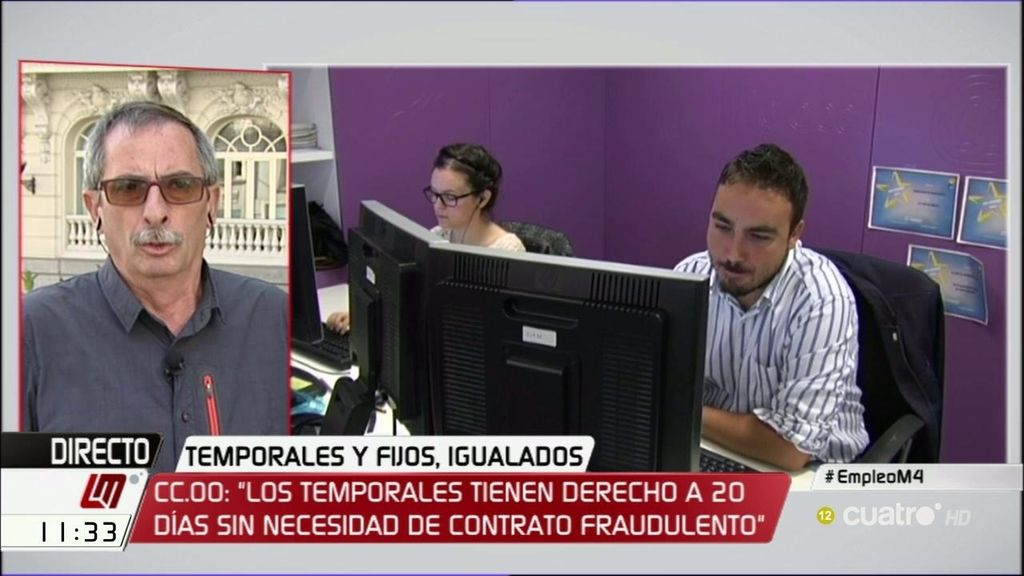 """R. Górriz (CCOO): """"Cumplir la sentencia del Tribunal Europeo significa que 4 millones de personas están en condiciones de hacer reclamación de cantidad ya"""""""