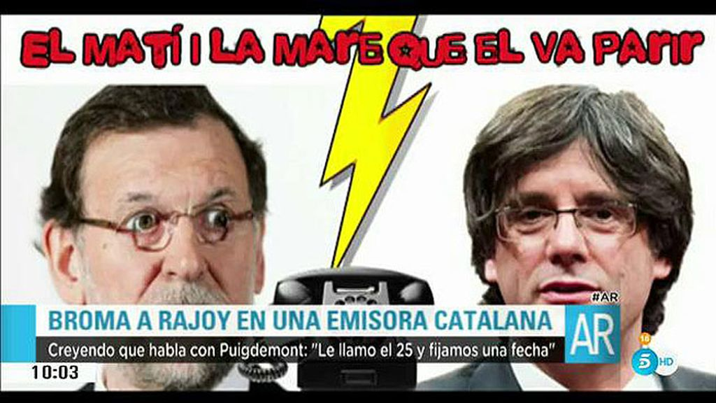 Una emisora de radio catalana gasta una broma telefónica a Mariano Rajoy