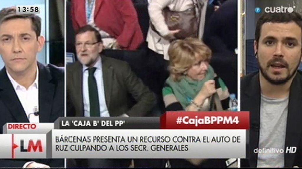 """A. Garzón: """"Es muy difícil creer que los máximos responsables políticos no supiesen de dónde procedía el dinero"""""""