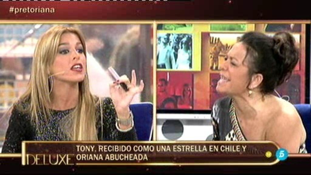 Tony Spina, como una estrella en las discotecas de Chile. Oriana, abucheada