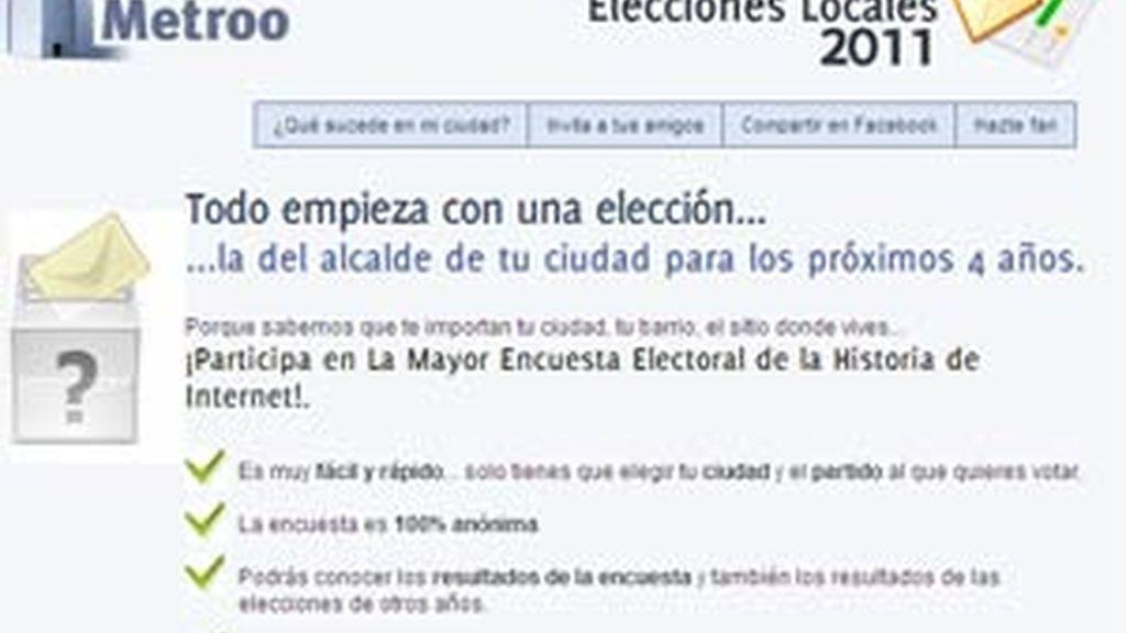 La encuesta permite conocer el estado del sondeo en tu ciudad y en las principales ciudades del país. Foto: Facebook