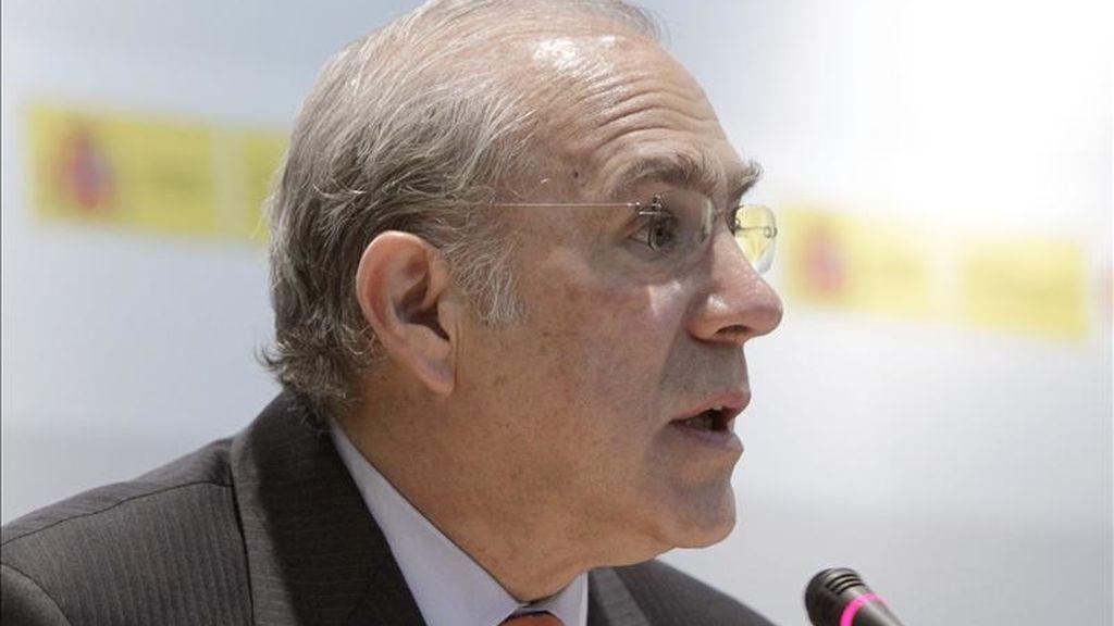 El secretario general de la OCDE, Ángel Gurría, durante su intervención en el acto conmemorativo de los 50 años de la OCDE. EFE
