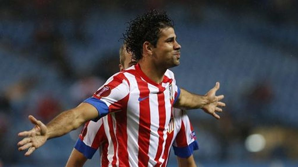 Diego Costa celebra su gol ante el Academica