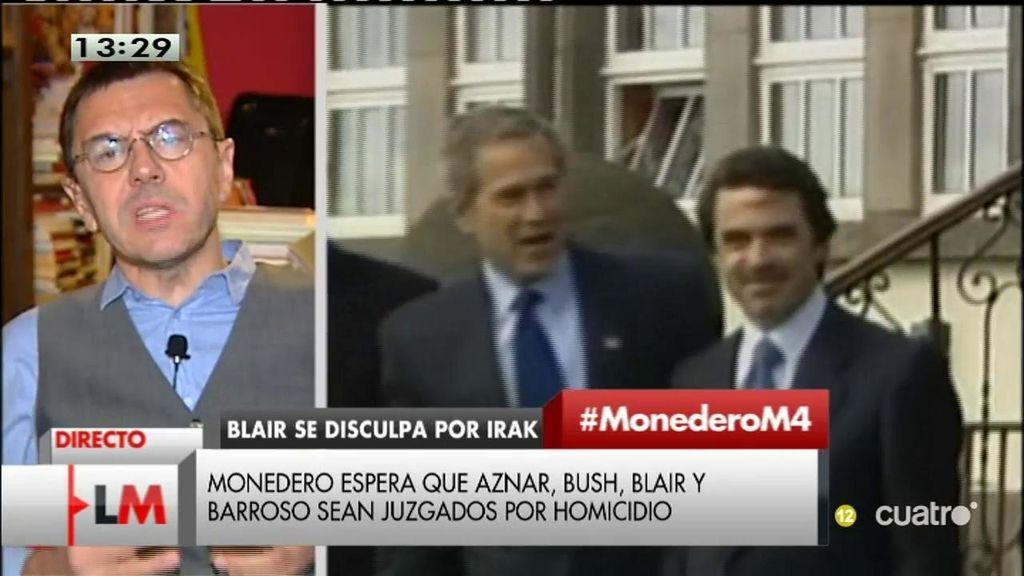 """Monedero: """"No basta con el perdón, los de las Azores tienen que ir a un tribunal internacional"""""""