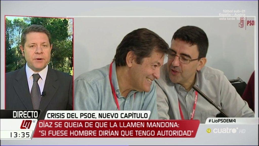 """García-Page no quiere un secretario en el PSOE """"al que no le vota ni la familia"""""""