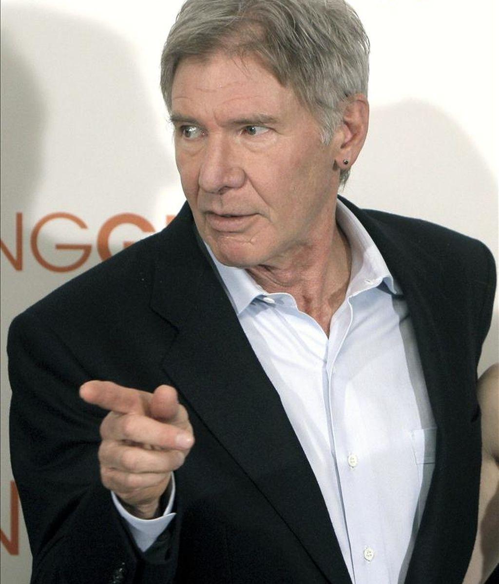 """El actor estadounidense Harrison Ford, durante la presentación de """"Morning Glory"""". EFE"""