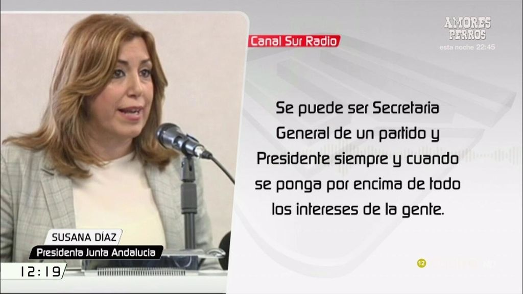 """Susana Díaz: """"Se puede se secretaria general de un partido y presidente si se ponen por encima los intereses de la gente"""""""