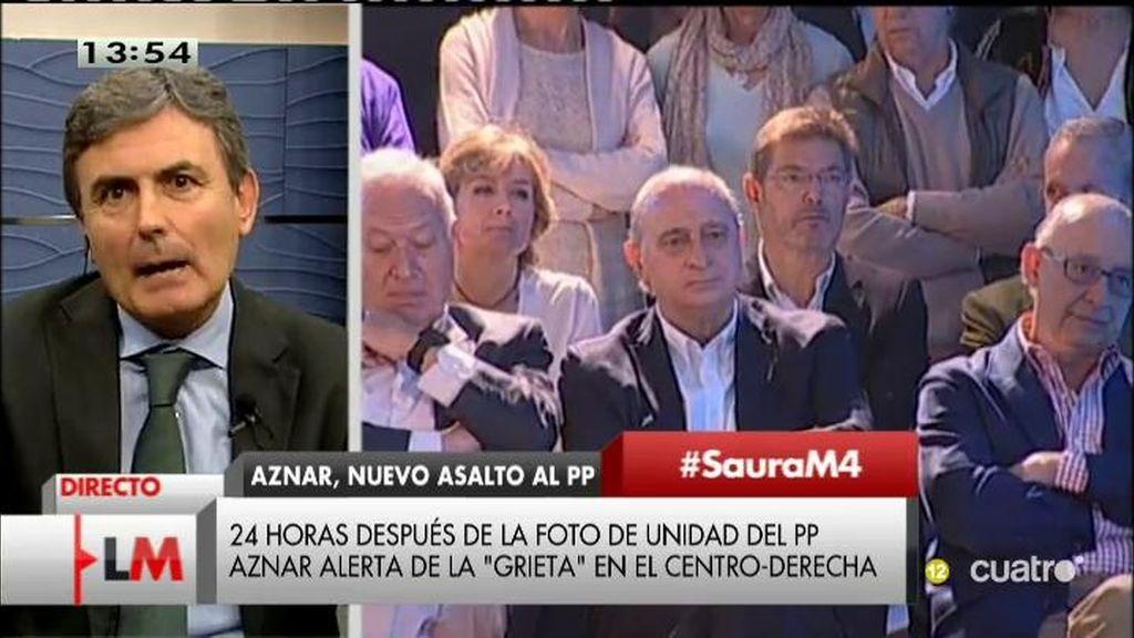 """Pedro Saura: """"Se ve venir el final del Partido Popular en el Gobierno"""""""