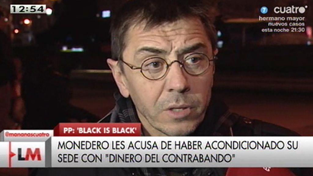 """J. C. Monedero: """"Se constata que todo lo que toca el Partido Popular lo corrompe"""""""