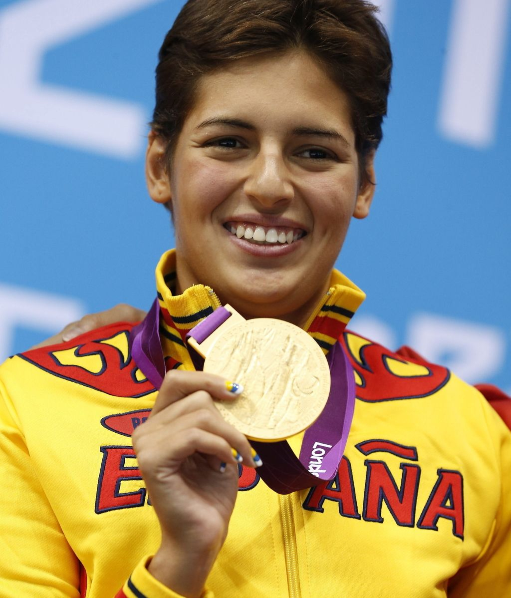 Michelle Alonso con la medalla de oro