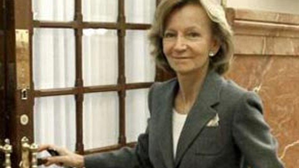 Elena Salgado. ministra de Economía. Foto: EFE