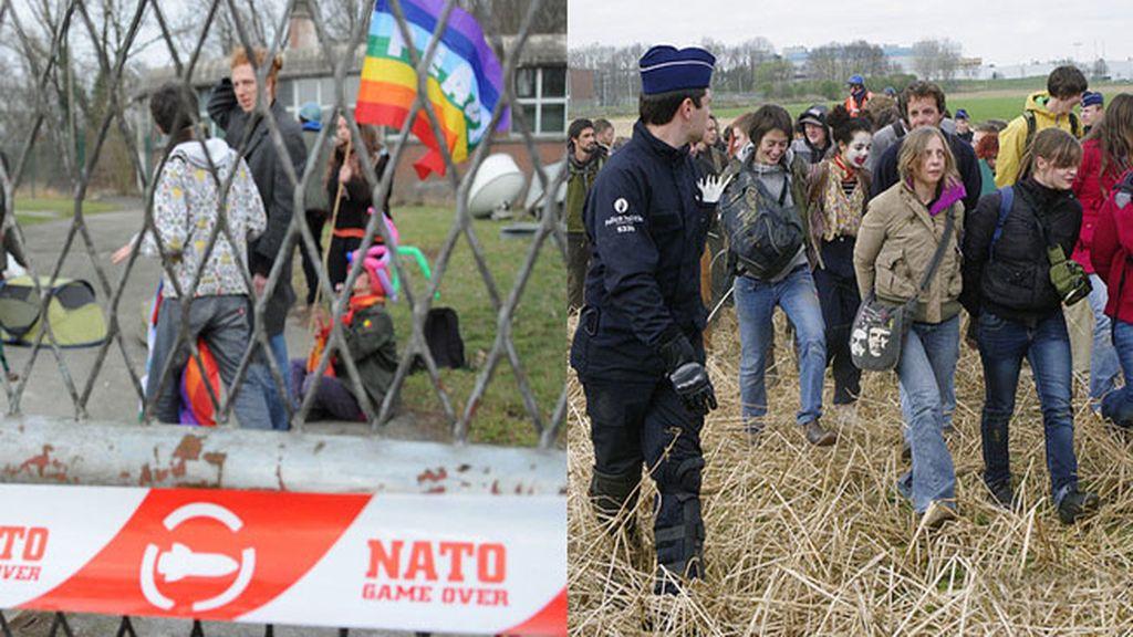 483 detenidos en una manifestación pacífica en la sede de la OTAN en Bruselas