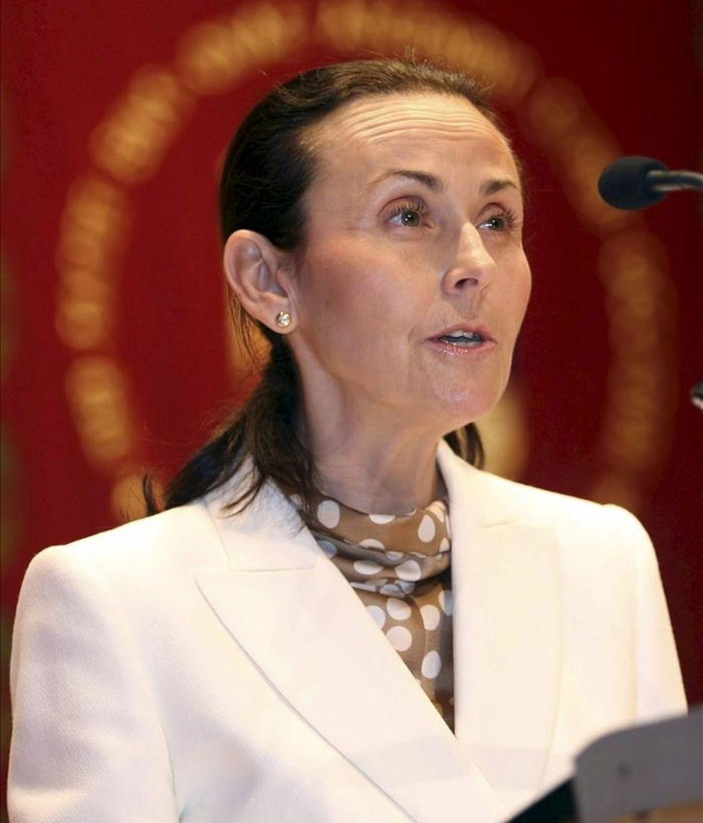 La presidenta del Tribunal Superior de Justicia de la Comunitat Valenciana (TSJCV), María Pilar de la Oliva. EFE/Archivo