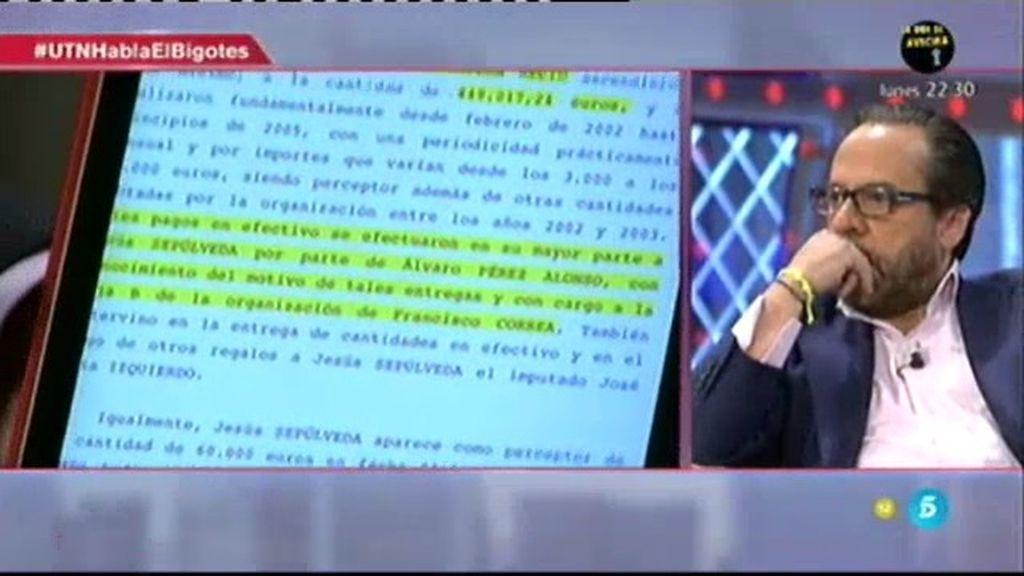 """Álvaro Pérez, sobre el informe del juez: """"Jamás he entregado dinero a Sepúlveda"""""""