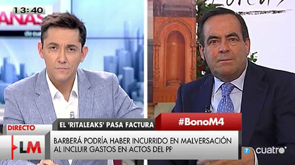 """José Bono: """"No creo que haya en Europa un territorio con tal cantidad de imputados como hay en la Comunidad Valenciana"""""""