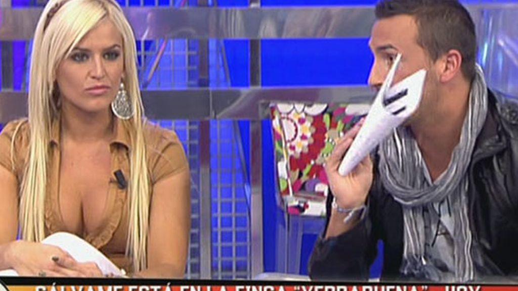 Chari y Rubén discuten en 'Sálvame'