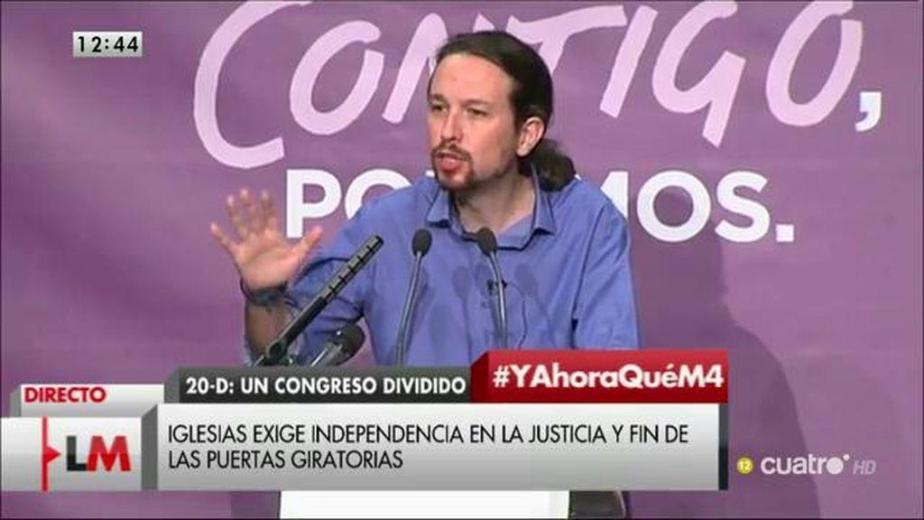 """Pablo Iglesias: """"Estamos viviendo una nueva transición en España"""""""