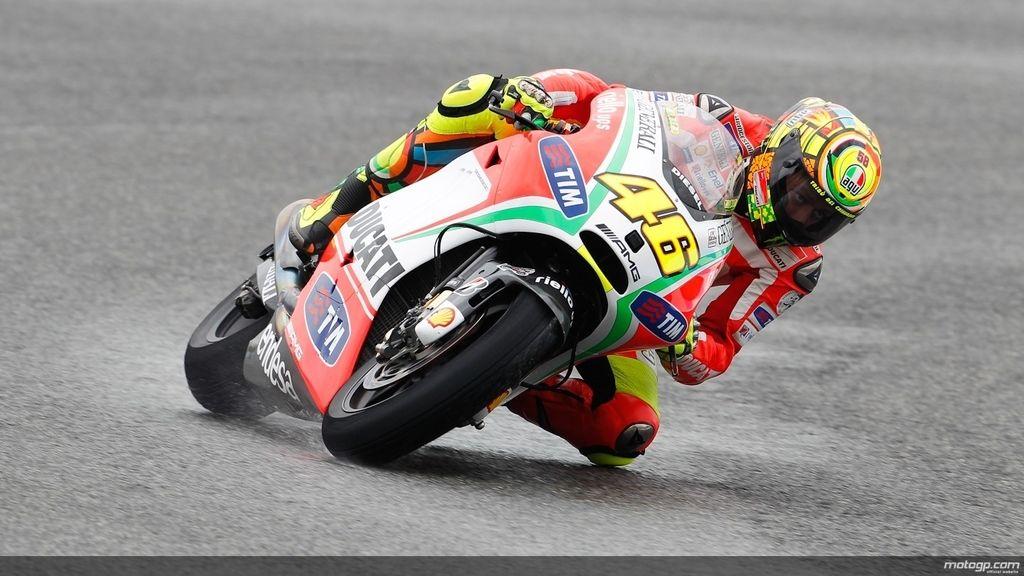 Valentino Rossi en la carrera de Le Mans