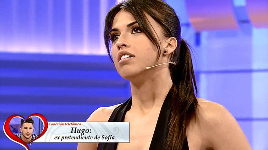 """Sofía, a Hugo: """"No me gustó la manera en la que te traté el otro día"""""""