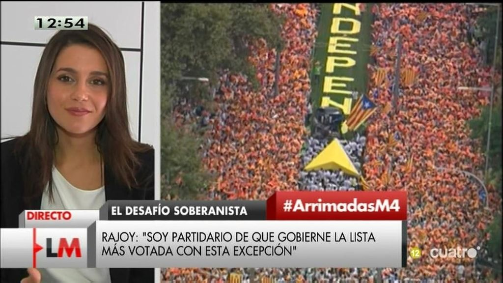 """Inés Arrimadas: """"Salir de Europa no es bueno para los catalanes. Ciudadanos es la opción"""""""