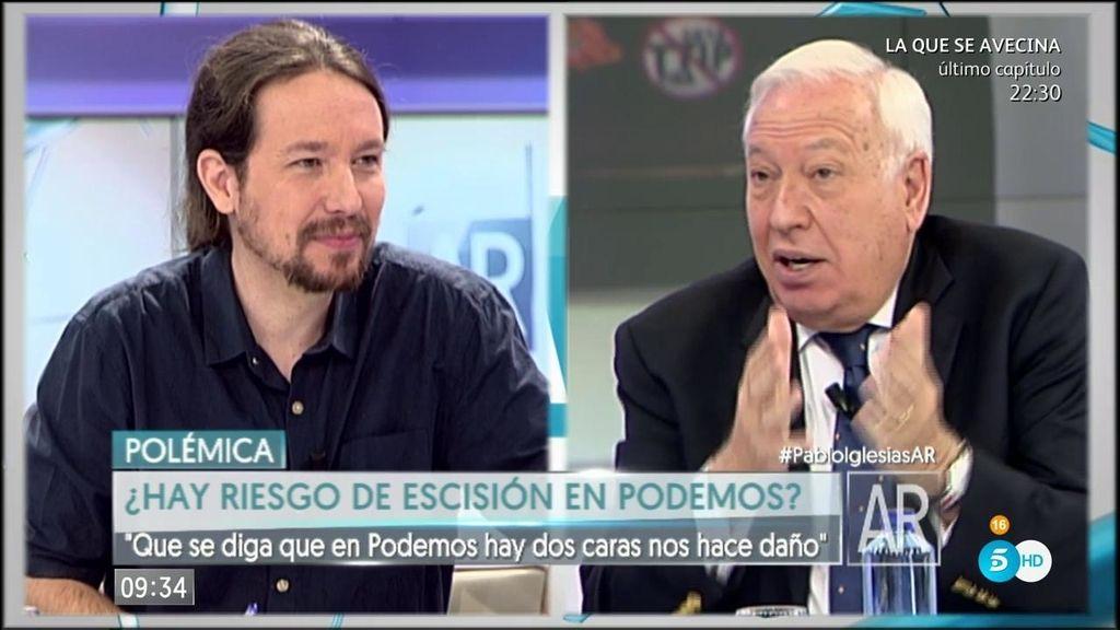 """La broma de Iglesias a Margallo: """"Errejón le va a fichar para su corriente"""""""
