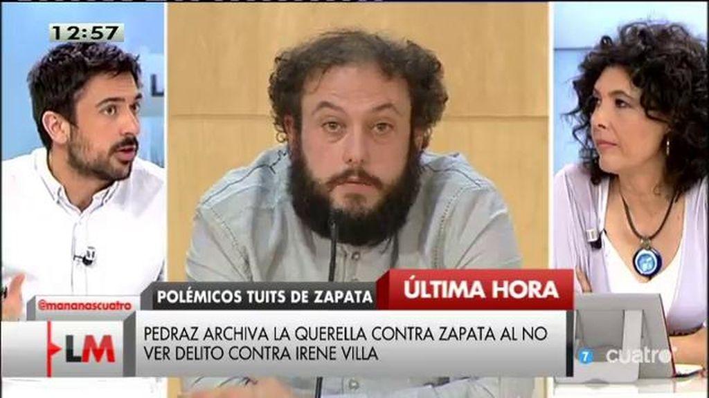 """Ramón Espinar: """"Lo que ha pasado con Zapata, objetivamente, no es constitutivo de ningún atentado contra la ley"""""""