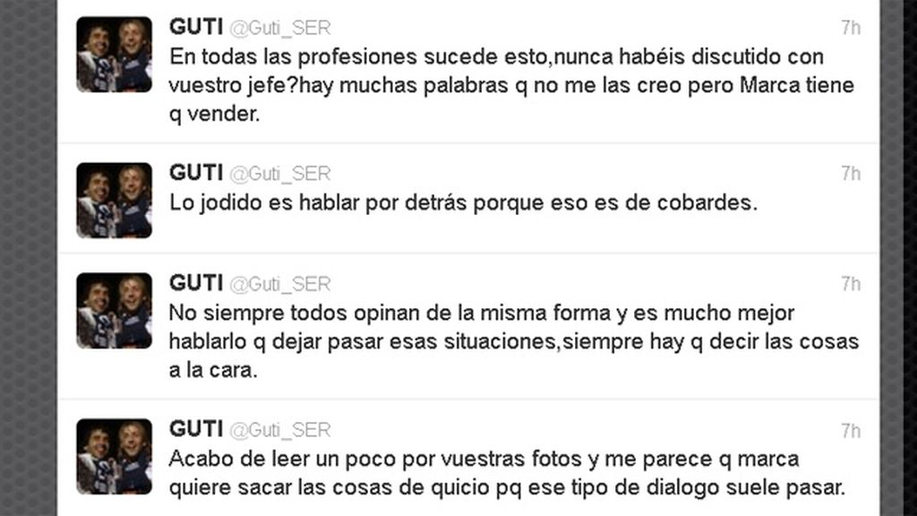 Guti habla en twitter sobre el diario Marca