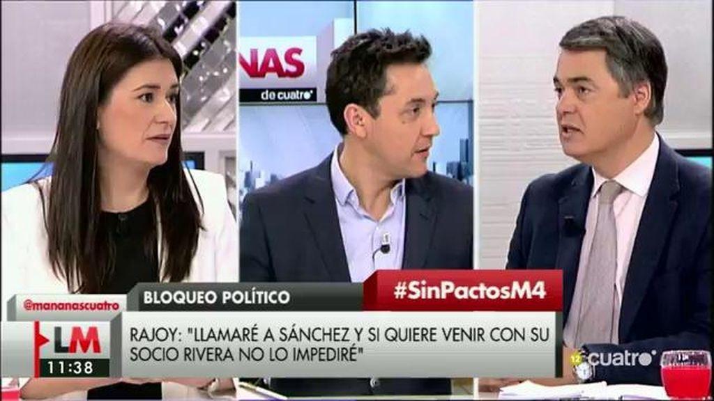 """C. Rojas (PP): """"Rajoy llama desde hace mucho a Sánchez y no se quiere sentar"""""""