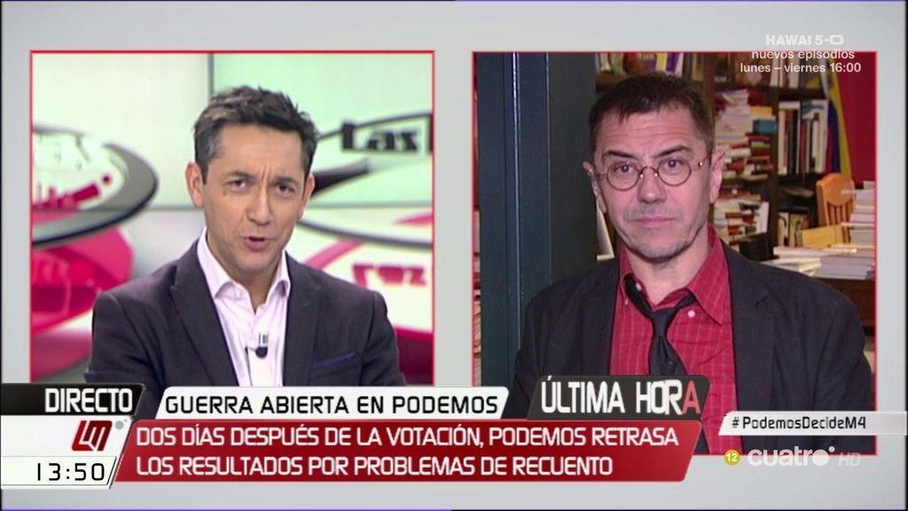 """Juan Carlos Monedero: """"Íñigo Errejón tendrá que dejar entrada a más portavoces"""""""