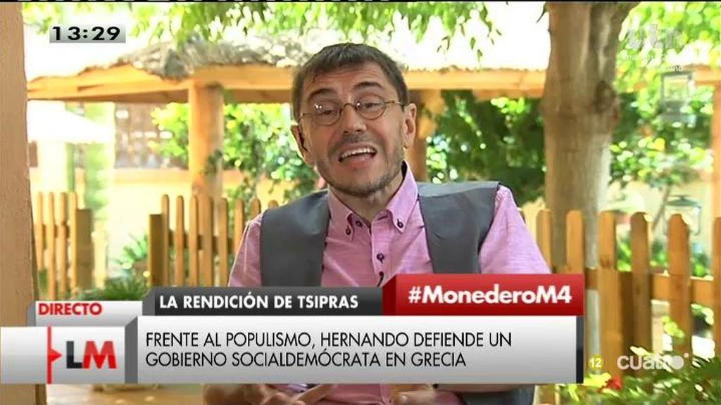 La entrevista íntegra de Monedero
