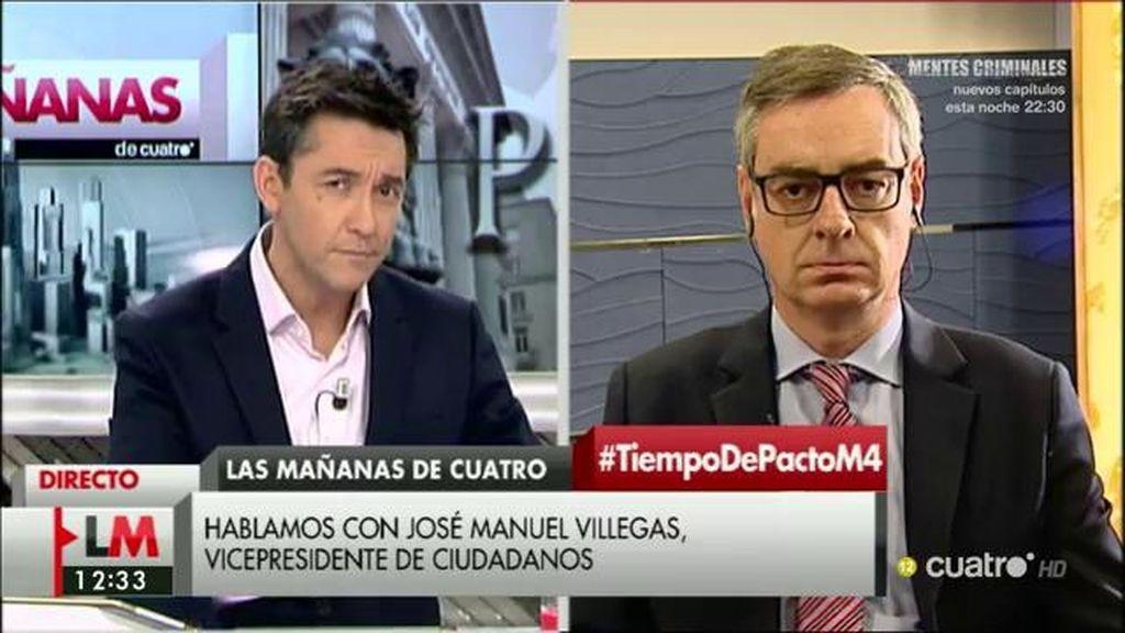 """José Manuel Villegas: """"Estamos trabajando para ese proyecto ilusionante y luego hablaremos de la aritmética"""""""