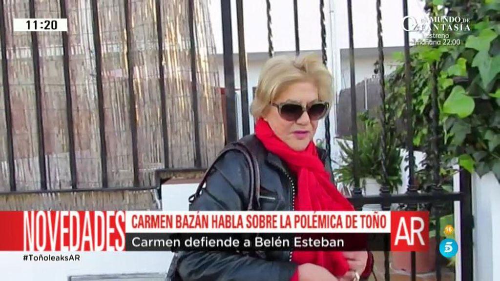 """Carmen Bazán: """"No me sorprende, Belén confía en todo el mundo porque es muy leal"""""""