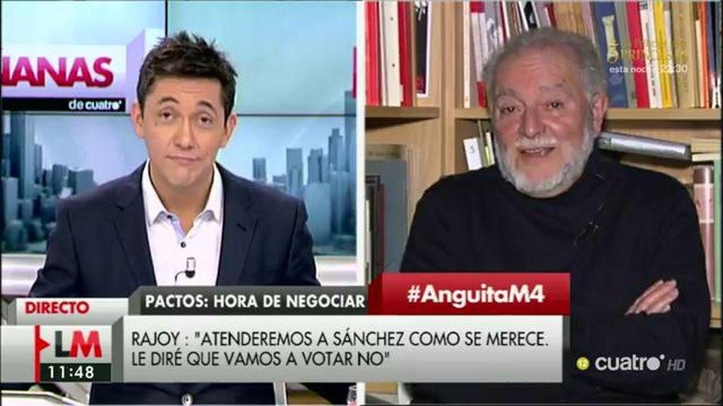 """Julio Anguita: """"El PSOE no puede gobernar si no se abstiene el PP y viceversa"""""""