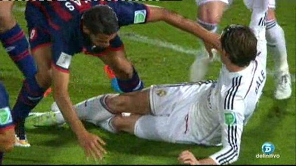 Kroos, Sergio Ramos y Bale sufren la dureza de los jugadores de San Lorenzo