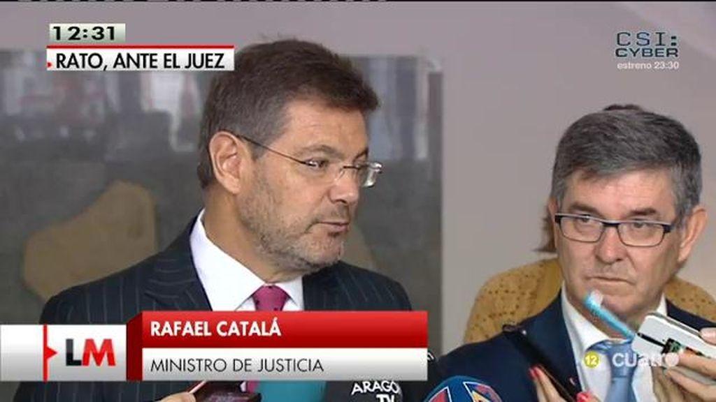 """Rafael Catalá, sobre Rato: """"La responsabilidad política es diferente a la empresarial"""""""