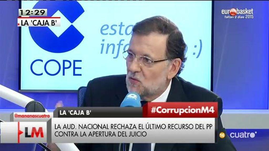 """Mariano Rajoy, sobre corrupción: """"El PP ya ha pagado un alto precio por eso"""""""