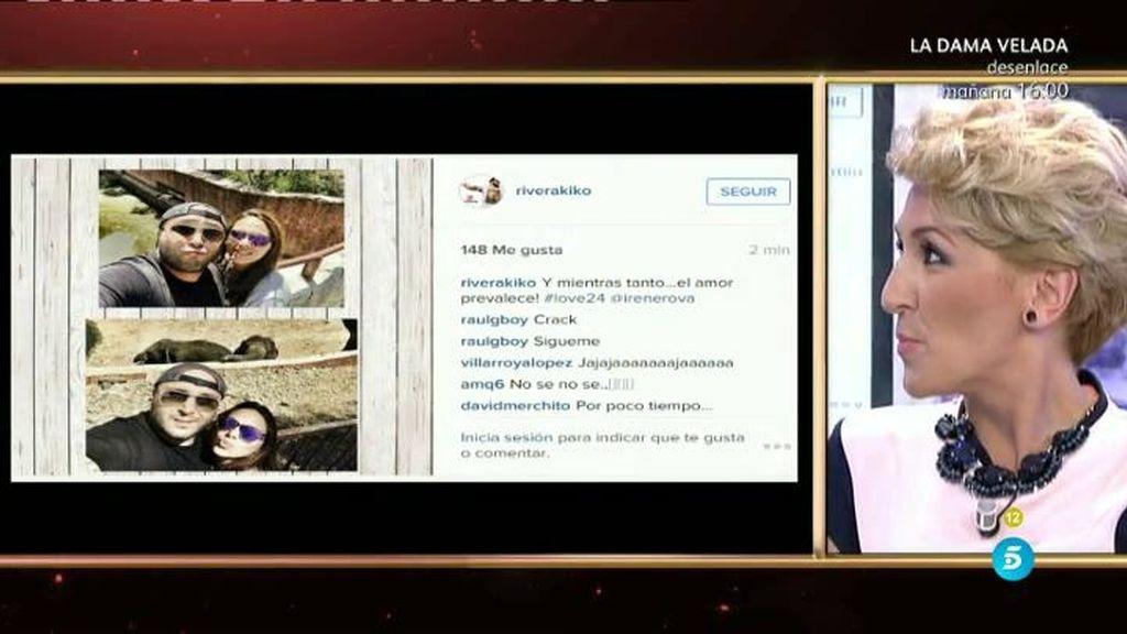 Kiko e Irene proclamaron su amor en redes sociales mientras Carmen tenía su Polideluxe
