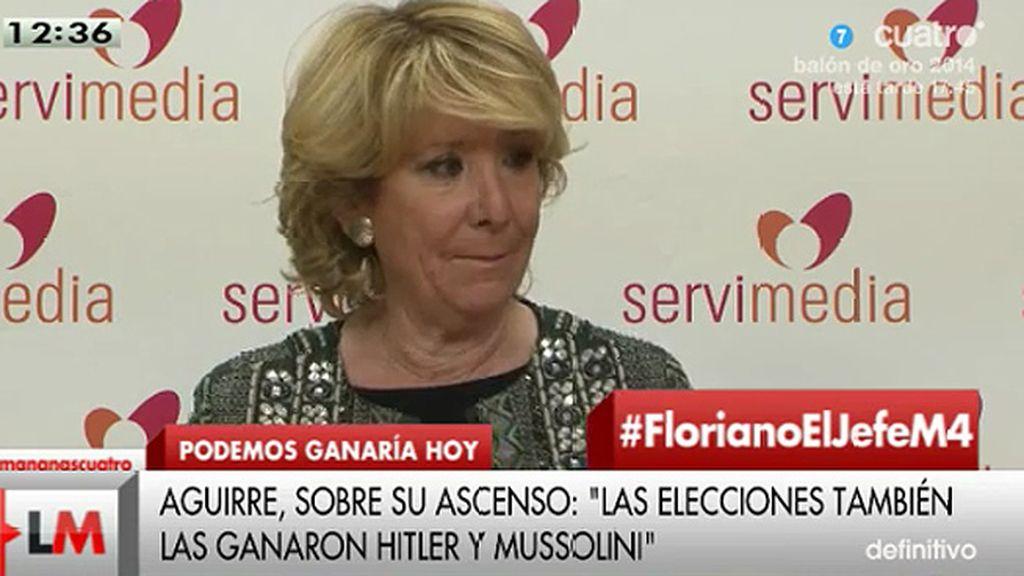 """Aguirre: """"Esto de la marcha sobre Madrid me recuerda mucho a la marcha sobre Roma"""""""