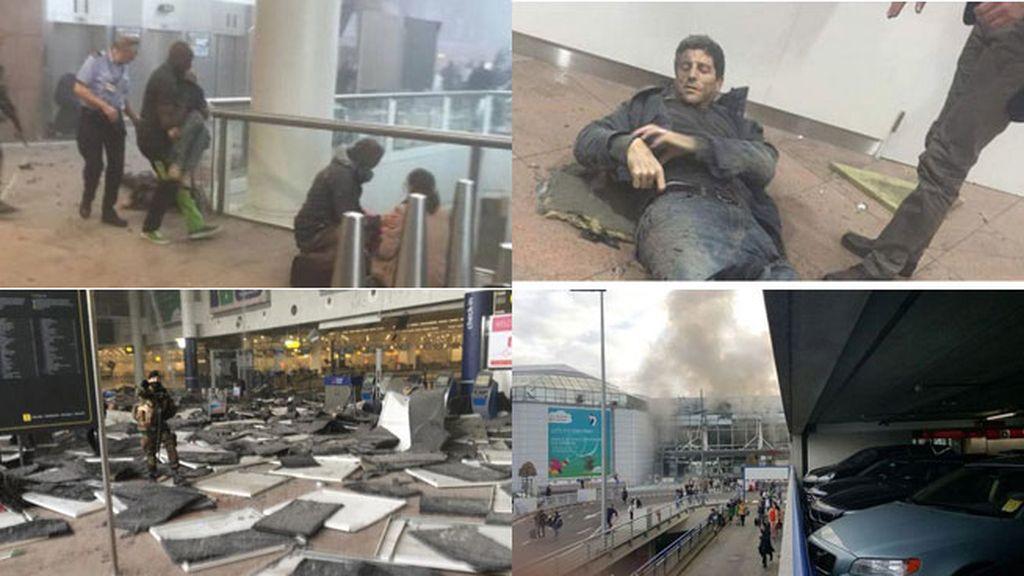 Dos explosiones en el aeropuerto de Bruselas
