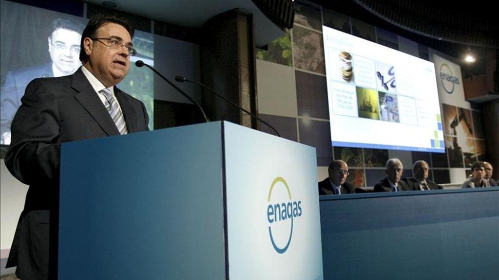 El presidente de Enagás, Antonio Llardén, durante una reunión de la Junta de Accionistas de la entidad. EFE/Archivo