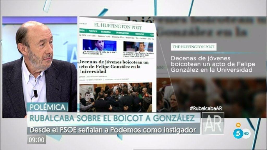 "Rubalcaba: ""Pablo Iglesias ya organizó un escrache a Rosa Díez"""