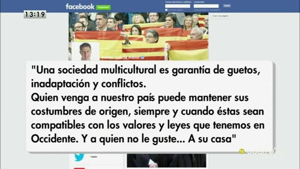 """Xavier García Albiol: """"Una sociedad multicultural es garantía de guetos, inadaptación y conflictos"""""""