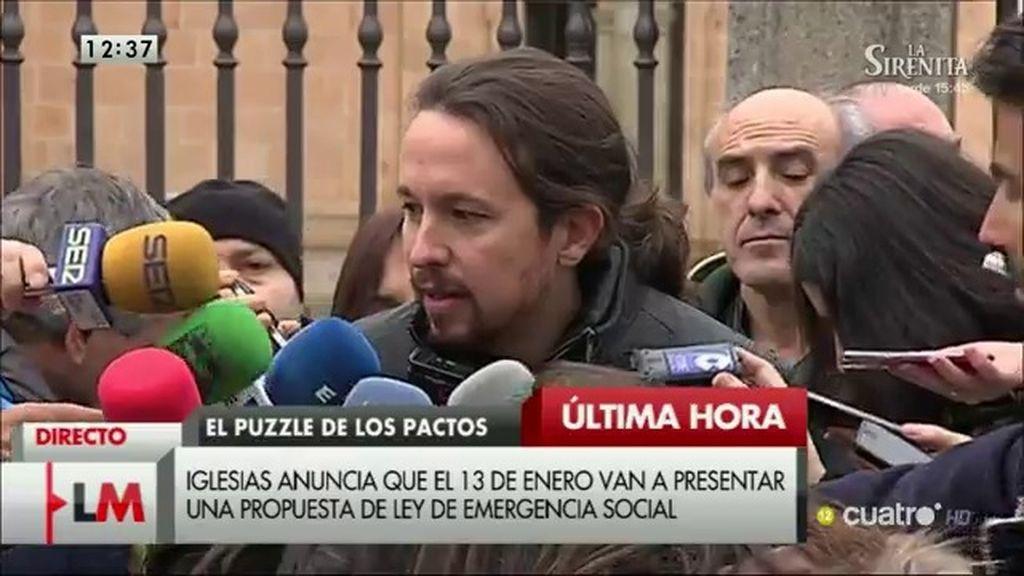 """Pablo Iglesias: """"No es momento de hablar de 'sillas', es momento de hablar de España"""""""